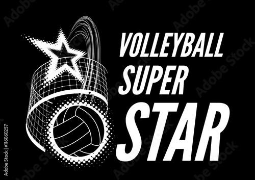 Fototapeta Volleyball super star design