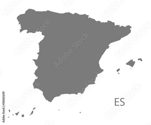 Spain Map grey