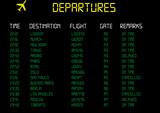Salidas - Departures