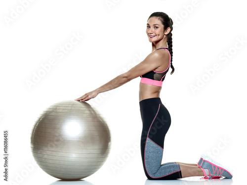 fototapeta na ścianę woman fitness exercises isolated