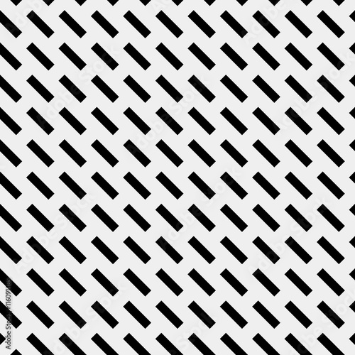 Geometric simple black and white minimalistic pattern, diagonal  thin lines. Can be used as wallpaper, background or texture. - 116091485