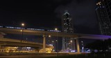 night Dubai Metro