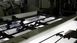 print press typography machine in work