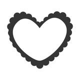 Heart love romantic, isolated flat icon design