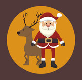 happy merry christmas isolated icon design, vector illustration  graphic