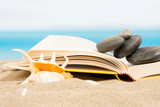 Book on the sand, relax on the beach