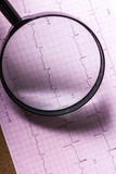 Magnifier on cardiogram