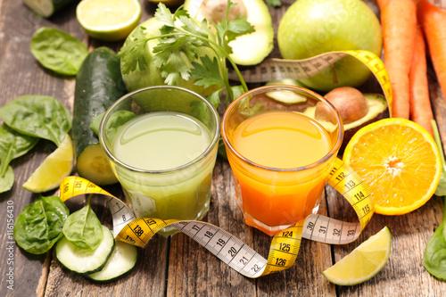 Fototapeta healthy vegetable juice
