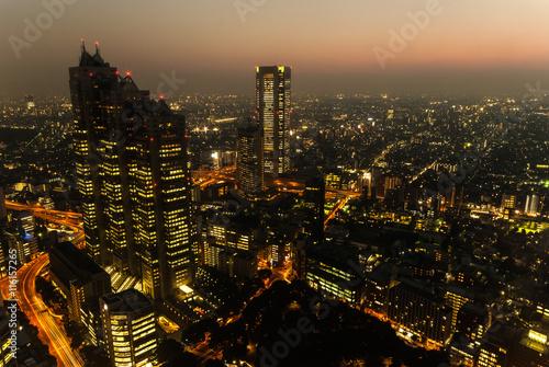 mata magnetyczna Tokyo Skyline at Dusk