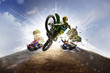 Постер, плакат: Multi sports motorsport collage dirt bike karting