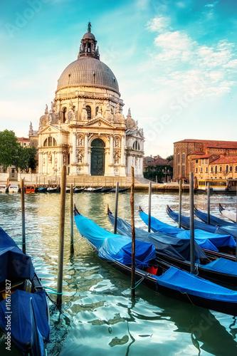 Gondolas and Basilica Santa Maria della Salute in Venice © tilialucida