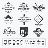 Fototapety vintage barber shop logo set