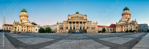 Panorama image of Gendarmenmarkt square in Berlin Poster