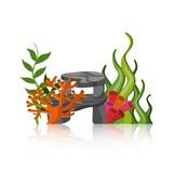 coral and algae icon. Sea life design. Vector graphic