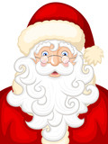 Vector illustration of a smiling cartoon Santa Claus.