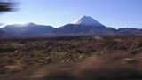 Landscape of Mount Ruapehu in Tongariro National Park during a road trip in the center of New Zealand