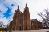 Roskilde Cathedral, church of the Danish royal family and unesco world heritage in Denmark