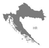 Croatia Map grey - 116235859