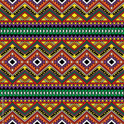 Cotton fabric Seamless aztec pattern