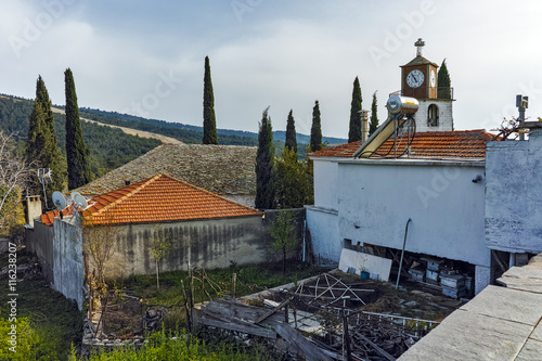 Zdjęcia na płótnie, fototapety, obrazy : Orthodox church with stone roof in village of Theologos,Thassos island, East Macedonia and Thrace, Greece