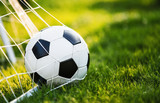 Soccer ball in goal - 116246650