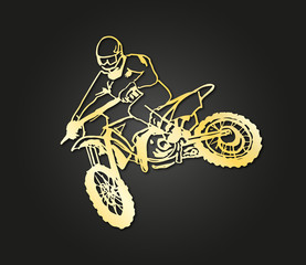 motocross gold design © lklyt