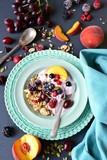 Homemade Healthy Breakfast with yogurt, granola and berries