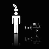 Newtons Gravitationsgesetz, Gedankenblitz