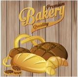 хлебная выпечка на деревянном фоне,круассан,печенье,батон