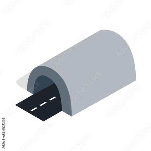 Tunel ikona w izometryczny styl 3d na białym tle