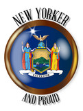 New York Proud Flag Button