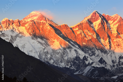 Mount Everest at sunset Poster