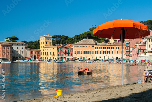 Foto op Canvas Liguria The beach of the