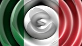 Italian flag waving - Top view