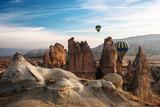 Balloons in the mountains of Cappadocia