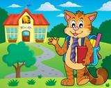 School cat theme image 2