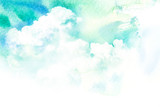 Watercolor illustration of cloud. - 116311820