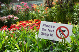 Please do not step in sign in Gardens by the Bay