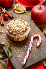 Christmas muffins with seeds