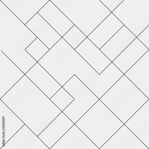 Geometric simple black and white minimalistic pattern, diagonal  thin lines. Can be used as wallpaper, background or texture. - 116328207