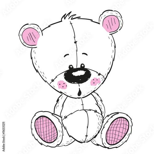 Fototapeta Drawing Teddy