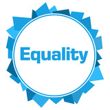 Equality Blue Random Shapes Circle