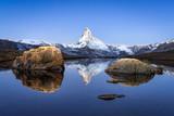 Stellisee und Matterhorn bei Zermatt, Schweiz