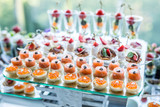 Assortment of canapes. - 116345008