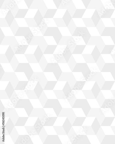 Geometric gray hexagon seamless pattern, vector - 116345098