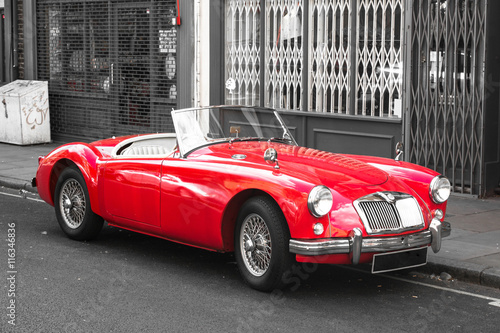 obraz PCV Old Vintage Red Sport Car