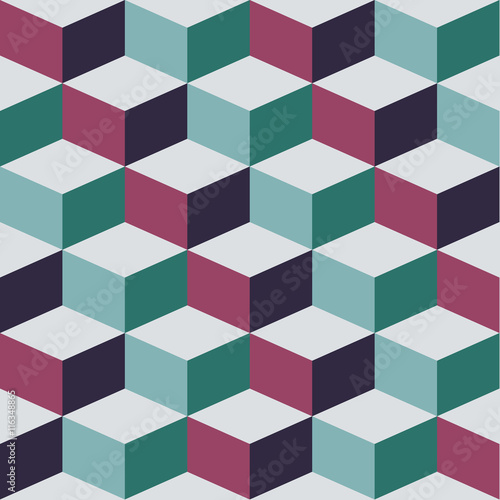 Seamless pattern with cube, vector abstract illustration - 116348865