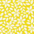 Summer pattern with abstract flower silhouettes and leaves. Seamless floral background