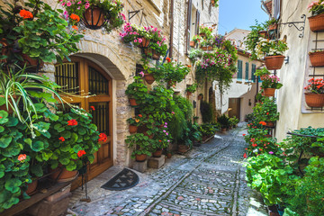 Spello and its nooks and streets of the beautiful Italian towns