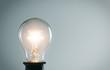 Glowing light bulb. Idea concept